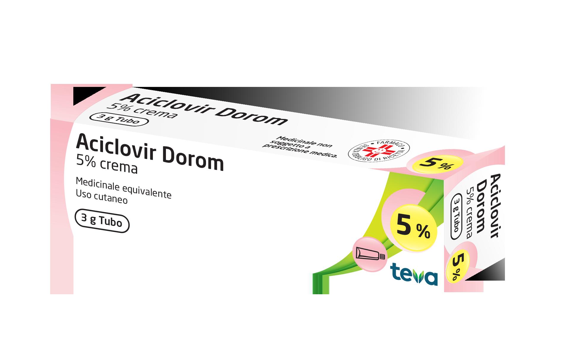 Aciclovir Dorom 5% Crema 3g - Zfarmacia