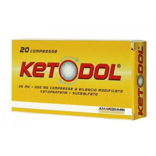 Ketodol 20 Compresse 25mg+200mg - Farmawing
