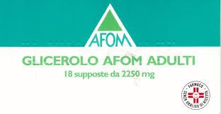 GLICEROLO AFOM*AD 18SUPP2250MG - farmaventura.it