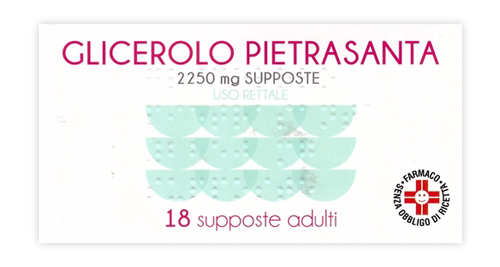 GLICEROLO*AD 18SUPP 2250MG - SUBITOINFARMA