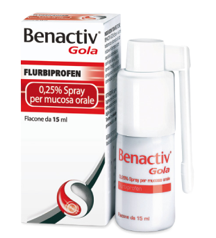 Benactiv Gola Flurbiprofene 0,25% Spray Per Mucosa Orale15ml - Farmawing