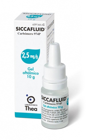 Siccafluid Gel Oftalmico 2,5 mg/g 10 g - Farmalilla