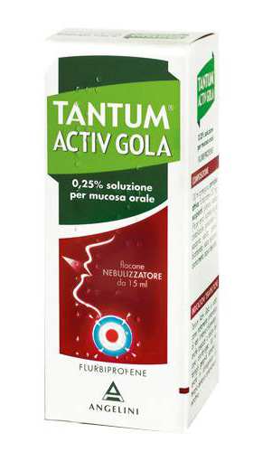 Tantum Activ Gola Spray Angelini Nebulizzatore Per Mal Di Gola 15ml - Farmawing