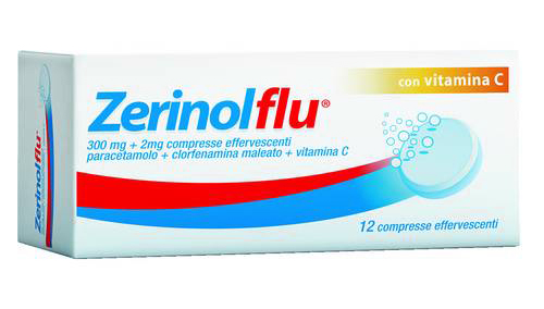Zerinolflu 300mg + 1,41mg + 280mg con Vitamina C 12 Compresse Effervescenti - Sempredisponibile.it