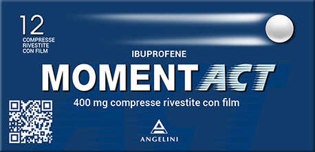 MomentACT 400mg Angelini Ibuprofene 12 Compresse Rivestite - Farmawing