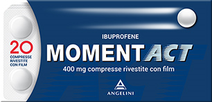 MOMENT ACT Ibuprofene  400mg 20 Compresse - Farmapage.it