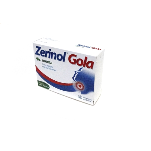 ZERINOL GOLA MENTA*18PAST 20MG - Spacefarma.it