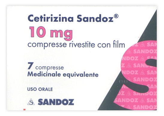 CETIRIZINA SAND*7CPR RIV 10MG - Farmajoy