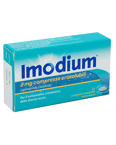 IMODIUM*12CPR OROSOL 2MG - Spacefarma.it