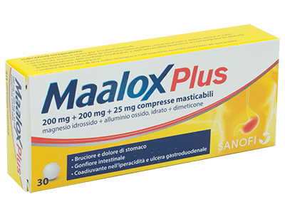 MAALOX PLUS*30CPR MAST - Farmacia Castel del Monte