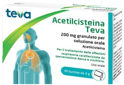 ACETILCISTEINA TEVA*30BS 200MG - Farmacia Basso