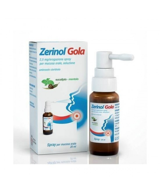 ZERINOL GOLA*SPRAY FL 20ML - farmaventura.it