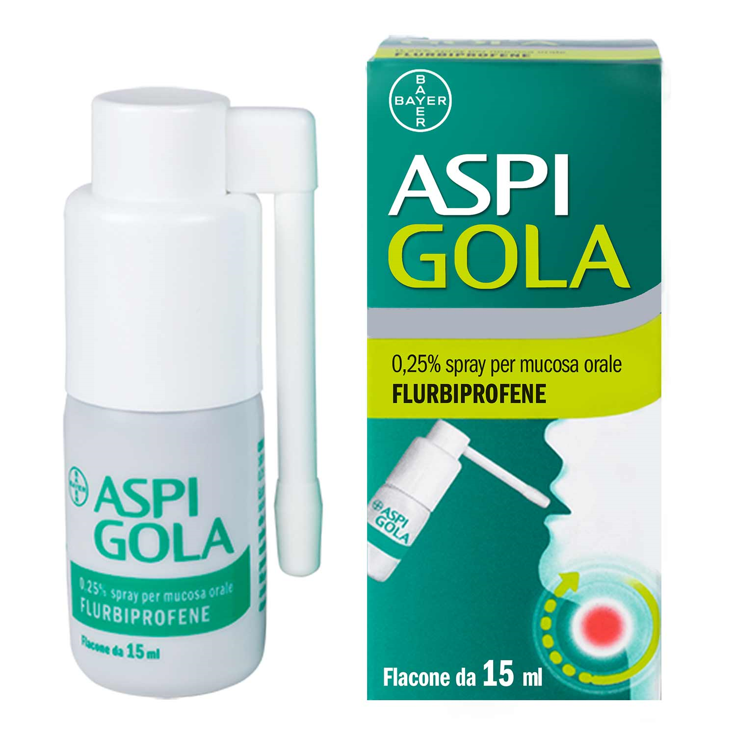 ASPI GOLA*OS SPRAY 15ML 0,25% - Farmafamily.it