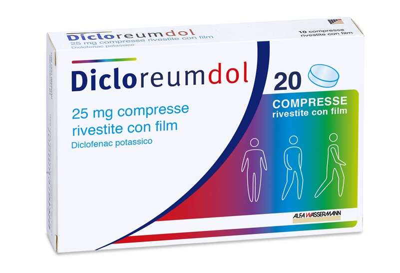 DICLOREUMDOL*20CPR RIV 25MG - SUBITOINFARMA