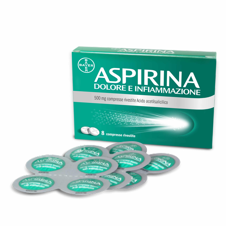 ASPIRINA DOLORE INF*8CPR 500MG - Spacefarma.it