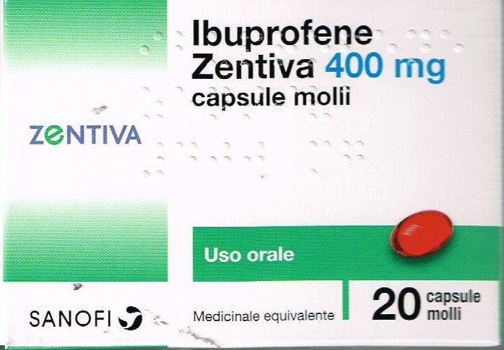 Ibuprofene Zentiva 400 mg Antinfiammatorio 20 Capsule Molli