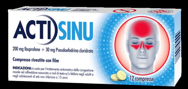 ACTISINU*12CPR 200MG+30MG - Farmaci.me