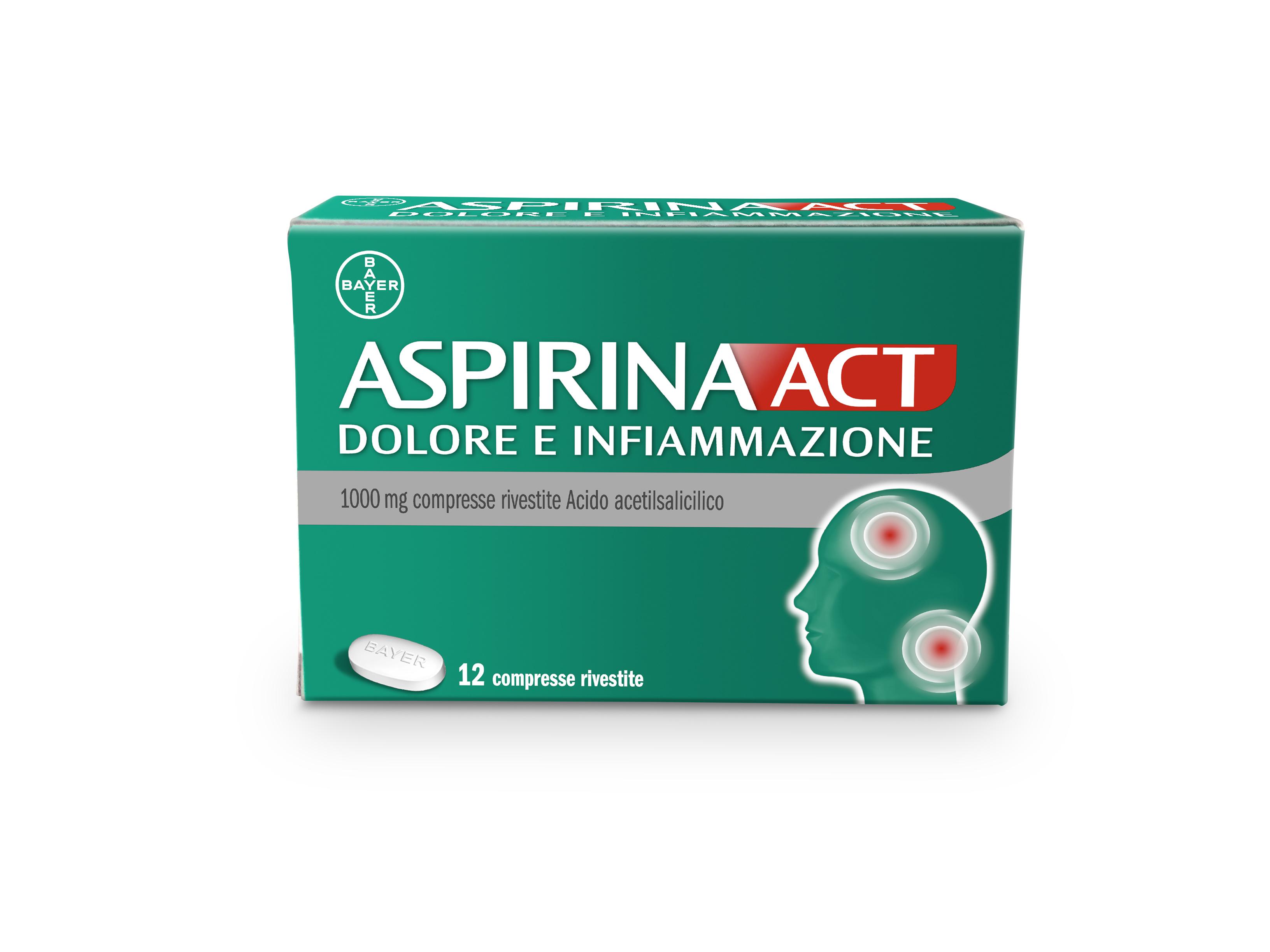 ASPIRINAACT DOL INF*12CPR 1G - Farmacia Barni