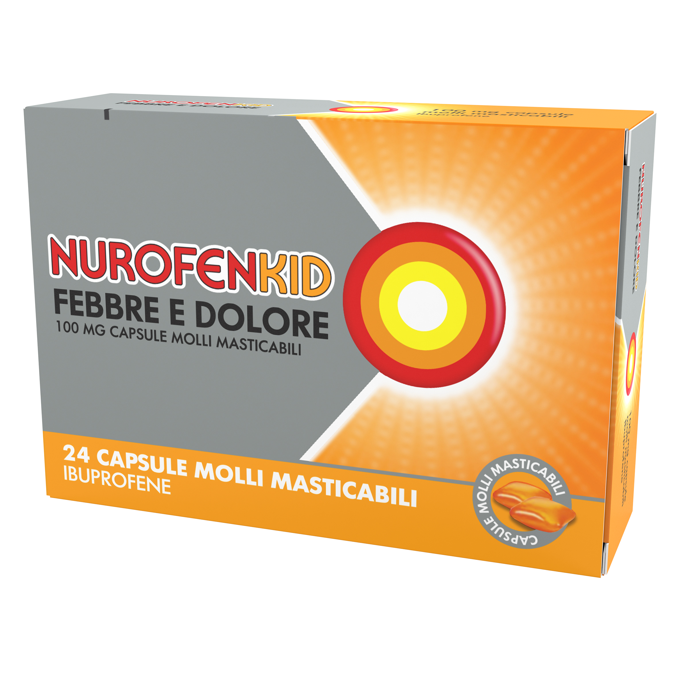 NUROFENKID FEB DOL*24CPS 100MG - Farmaciaempatica.it