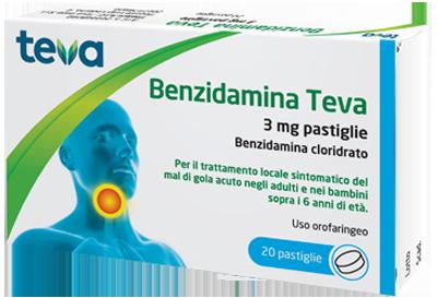 BENZIDAMINA TEVA*20PASTL 3MG - Farmaseller