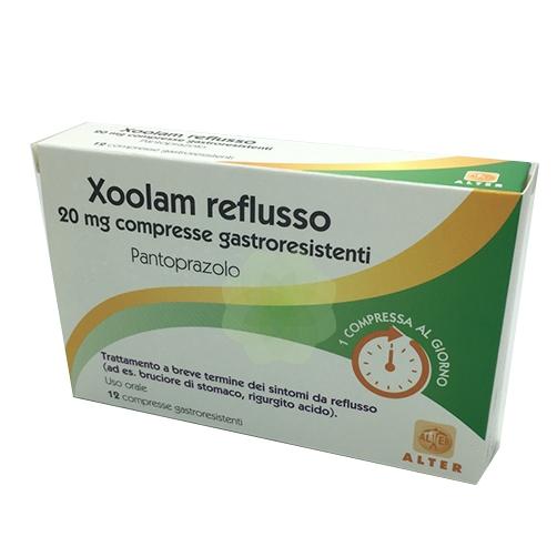 XOOLAM REFLUSSO*12CPR 20MG - Parafarmacia la Fattoria della Salute S.n.c. di Delfini Dott.ssa Giulia e Marra Dott.ssa Michela