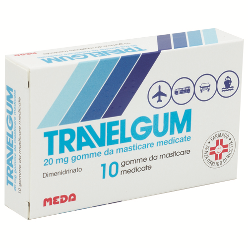 Travelgum 20mg Gomme da Masticare 10 Gomme - Arcafarma.it