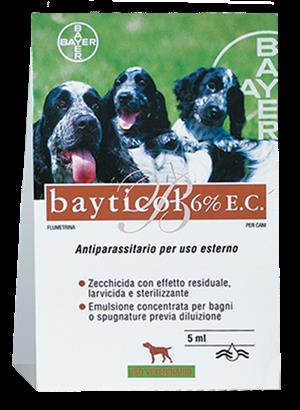 BAYTICOL 6%E.C.*FL VETRO 5ML - Parafarmacia la Fattoria della Salute S.n.c. di Delfini Dott.ssa Giulia e Marra Dott.ssa Michela