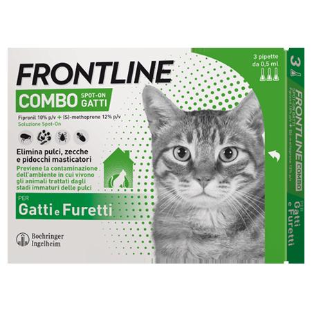 FRONTLINE COMBO SPOTON G*3 PIP - Parafarmacia la Fattoria della Salute S.n.c. di Delfini Dott.ssa Giulia e Marra Dott.ssa Michela