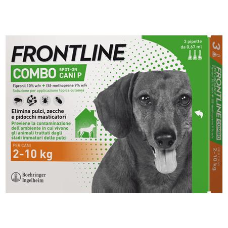 FRONTLINE COMBO*3PIP 2-10KG CA - Farmastar.it