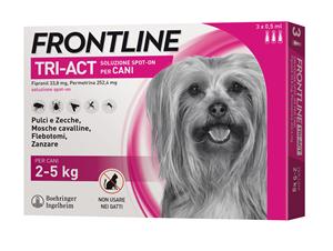 FRONTLINE TRI-ACT*3PIP 2-5KG - Farmastar.it