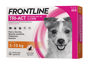 FRONTLINE TRI-ACT*3PIP 5-10KG - Farmastar.it