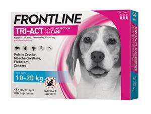 FRONTLINE TRI-ACT*3PIP 10-20KG - Farmastar.it