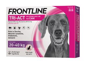 FRONTLINE TRI-ACT*3PIP 4ML 20-40 KG - Parafarmacia la Fattoria della Salute S.n.c. di Delfini Dott.ssa Giulia e Marra Dott.ssa Michela
