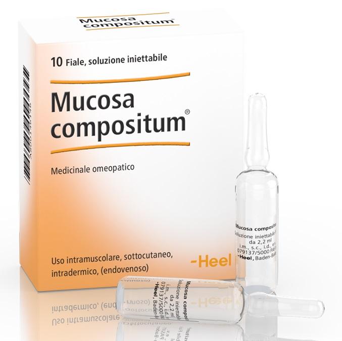 HEEL MUCOSA COMPOSITUM 10 FIALE DA 2,2 ML L'UNA - Farmaci.me