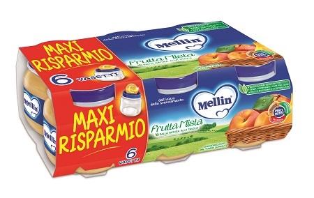 MELLIN OMOGENEIZZATO FRUTTA MISTA 100 G 6 PEZZI - Farmapage.it