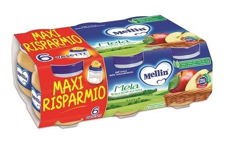MELLIN OMOGENEIZZATO MELA 100 G 6 PEZZI - Farmacia Bartoli