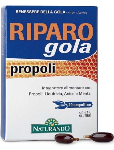 RIPARO GOLA PROPOLI 20 AMPOLLE BEVIBILI - Farmastar.it