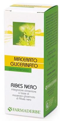 FARMADERBE RIBES NERO MACERATO GLICERINATO 50 ML - Farmacia33