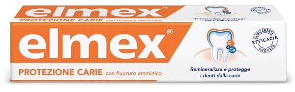 ELMEX PROTEZIONE CARIE DENTIFRICIO FLUORURO AMMINICO STANDARD 75 ML - Antica Farmacia Del Lago