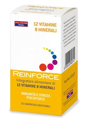 REINFORCE 12 VITAMINE + 8 MINERALI 30 COMPRESSE MASTICABILI - Farmaunclick.it