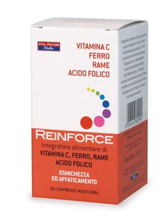 REINFORCE FERRO + VITAMINA C + RAME + ACIDO FOLICO - COSIMAX SRLS