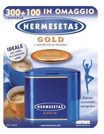 HERMESETAS GOLD 300+100 COMPRESSE 20 G - Parafarmacia la Fattoria della Salute S.n.c. di Delfini Dott.ssa Giulia e Marra Dott.ssa Michela