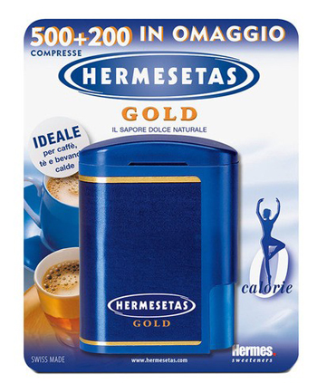 HERMESETAS GOLD 500+200 COMPRESSE 35 G - Farmapage.it