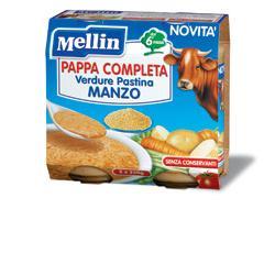 MELLIN PAPPA COMPLETA MANZO 250 G 2 PEZZI - Farmajoy