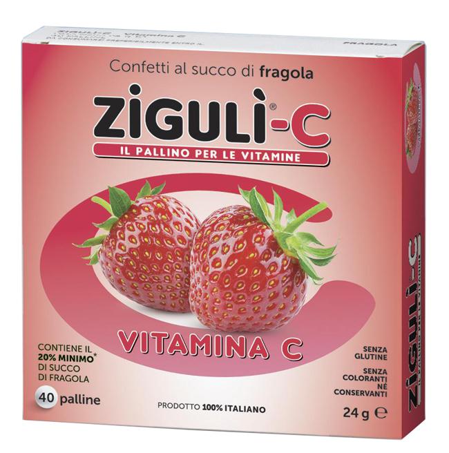 ZIGULI C FRAGOLA 40 CONFETTI 24 G - sapofarma.it