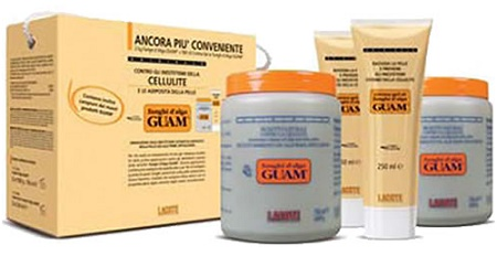 GUAM FANGHI D'ALGA DOPPIA CONVENIENZA CON FANGHI D'ALGA GUAM 2 X 1 KG + CREMA GEL 2 X 250 ML - Farmaunclick.it