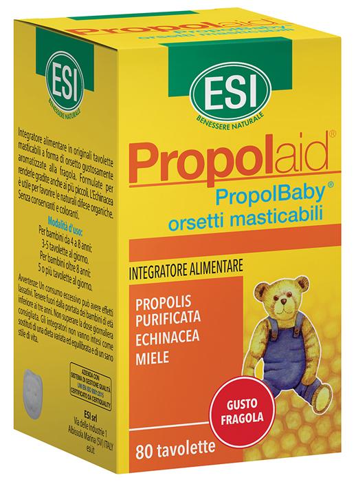 ESI PROPOLAID PROPOLBABY ORSETTI 80 COMPRESSE MASTICABILI - SUBITOINFARMA