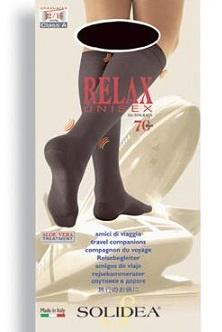 Solidea Relax 70 DEN Gambaletto Compressivo Colore Blu Taglia 2
