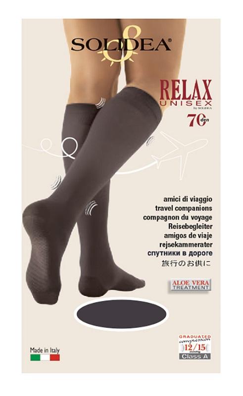 Solidea Relax 70 DEN Gambaletto Compressivo Colore Moka Taglia 4