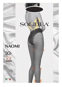 Solidea Naomi 30 DEN Collant Compressivo Modellante Colore Blu Taglia 2
